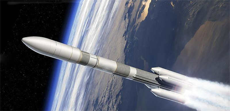 With a first test flight scheduled for 2020, the future Ariane 6 launcher will provide Europe with a more flexible launcher than the current heavy dual payload Ariane 5. ©Airbus DS
