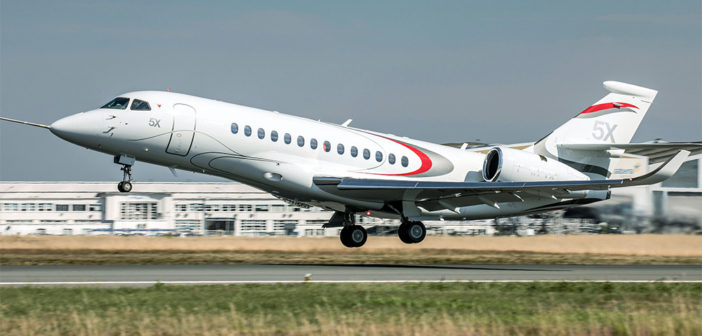 Dassault Falcon 5X performs maiden flight