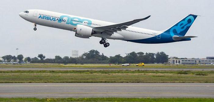 Airbus A330neo prototype performs maiden flight